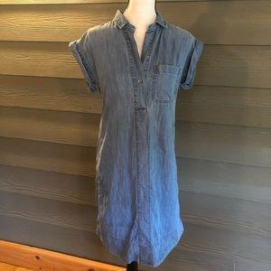 J Crew trademark chambray Blue Shirt Dress Size XS